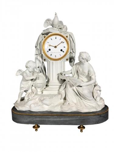Clock the study, Sévres manufactory , Circa 1810.