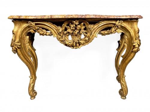 French fine console , Provence Louis XV  period circa 1770