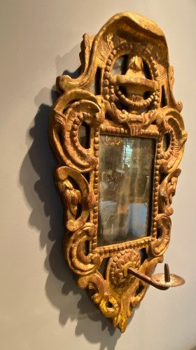 French fine candle reflector mirror, Provence circa 1750 - Mirrors, Trumeau Style Louis XV