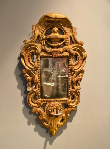 18th century - French fine candle reflector mirror, Provence circa 1750