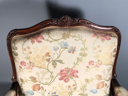 Seating  - Fine pair of french armchairs stamped Pére Gourdin, Paris circa 1750