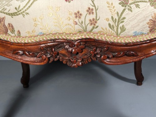 Fine pair of french armchairs stamped Pére Gourdin, Paris circa 1750 -