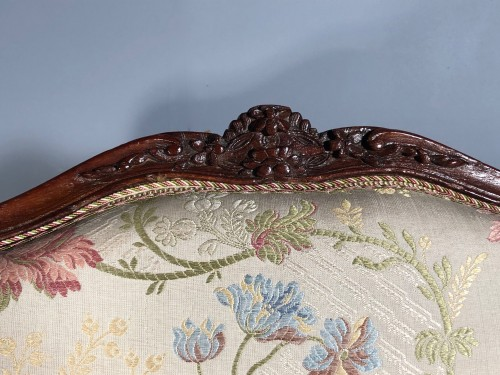 18th century - Fine pair of french armchairs stamped Pére Gourdin, Paris circa 1750