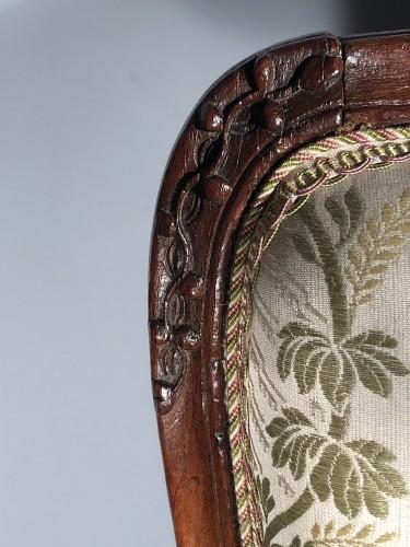 Fine pair of french armchairs stamped Pére Gourdin, Paris circa 1750 - Louis XV