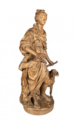 Diane chasseresse, terracotta, French school late 18th