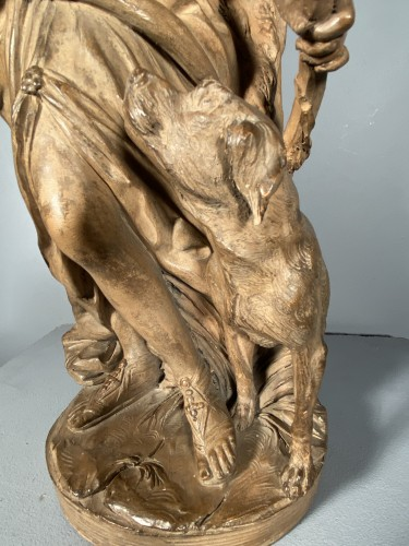 Sculpture  - Diane chasseresse, terracotta, French school late 18th