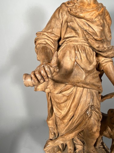 Diane chasseresse, terracotta, French school late 18th -