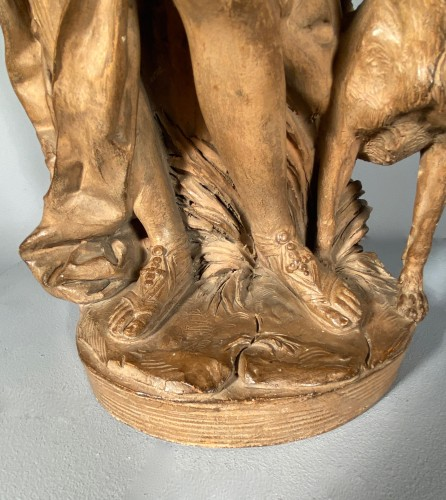 19th century - Diane chasseresse, terracotta, French school late 18th