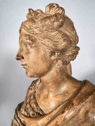 Diane chasseresse, terracotta, French school late 18th - Louis XIV