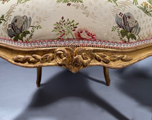 French fine pair of armchairs stamped BARA, Louis XV period circa 1750 -