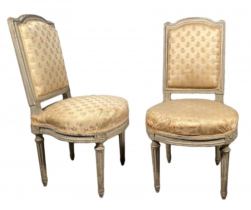 Pair of chairs stamped G.JACOB, Paris Louis XVI period circa 1780