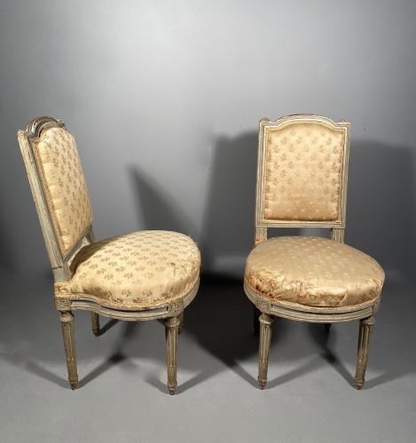 Pair of chairs stamped G.JACOB, Paris Louis XVI period circa 1780 - Seating Style Louis XVI