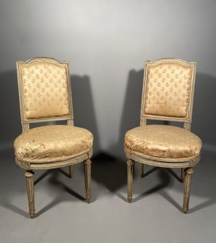 Seating  - Pair of chairs stamped G.JACOB, Paris Louis XVI period circa 1780