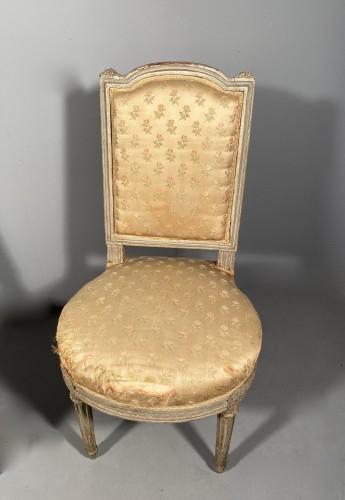Pair of chairs stamped G.JACOB, Paris Louis XVI period circa 1780 -