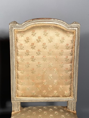 Louis XVI - Pair of chairs stamped G.JACOB, Paris Louis XVI period circa 1780