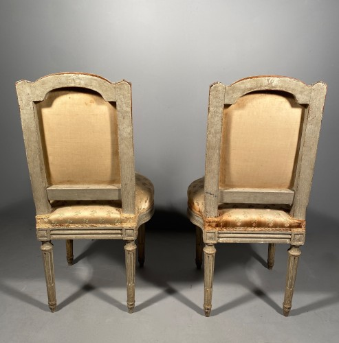 Antiquités - Pair of chairs stamped G.JACOB, Paris Louis XVI period circa 1780