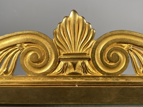 Fireplace screen in gilded bronze, Paris Empire period. - Furniture Style Empire
