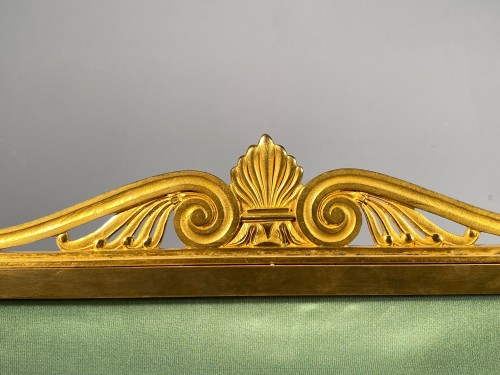 Fireplace screen in gilded bronze, Paris Empire period. - Empire