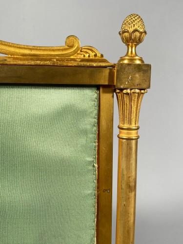 Empire - Fireplace screen in gilded bronze, Paris Empire period.