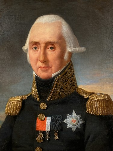 Portrait of Marshal Kellermann by Robert Lefèvre 1818 - Paintings & Drawings Style Restauration - Charles X