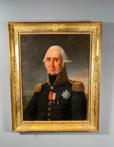 Antiquités - Portrait of Marshal Kellermann by Robert Lefèvre 1818