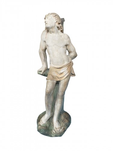 The statue of Saint Sebastian, Burgundy circa 1500