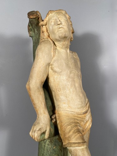The statue of Saint Sebastian, Burgundy circa 1500 - Sculpture Style Renaissance