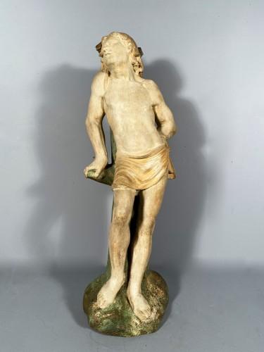 Sculpture  - The statue of Saint Sebastian, Burgundy circa 1500