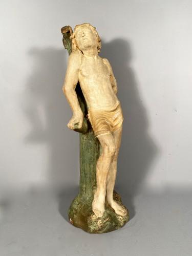 The statue of Saint Sebastian, Burgundy circa 1500 -