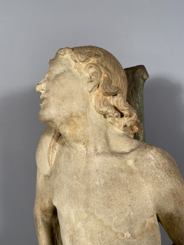 The statue of Saint Sebastian, Burgundy circa 1500 - Renaissance