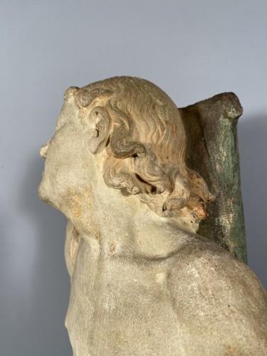 Antiquités - The statue of Saint Sebastian, Burgundy circa 1500