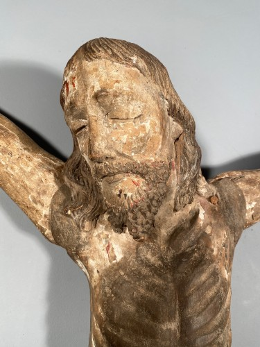 Great Christ of procession, South West of France, late 14th century. - Sculpture Style Middle age