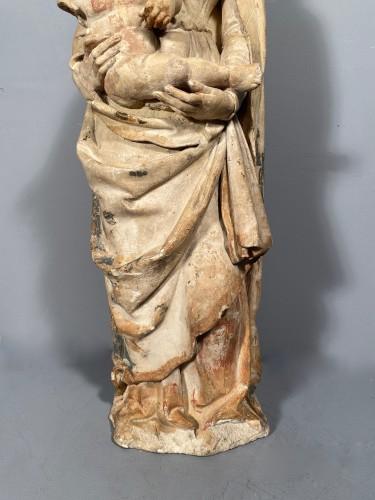 Madonna and Child in Stone, Champagne circa 1520 -