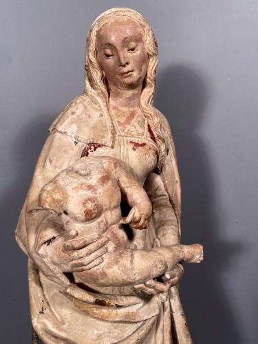 Renaissance - Madonna and Child in Stone, Champagne circa 1520