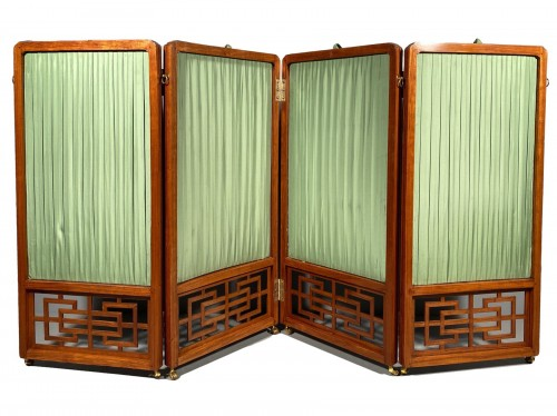 Chinese style screen in rosewood, stamped Cramer, Paris circa 1775