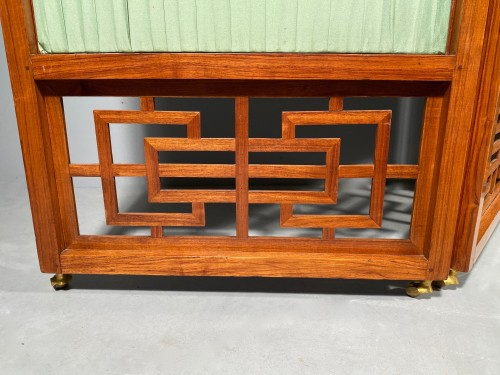 Chinese style screen in rosewood, stamped Cramer, Paris circa 1775 - Furniture Style Louis XV