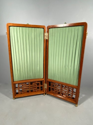 Chinese style screen in rosewood, stamped Cramer, Paris circa 1775 - Louis XV