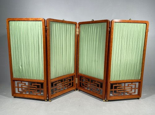 Louis XV - Chinese style screen in rosewood, stamped Cramer, Paris circa 1775