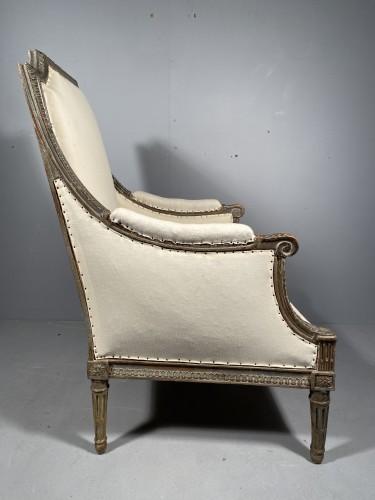 Seating  - Large Bergère armchair stamped J.B BOULARD, Paris  louis XVI circa 1780
