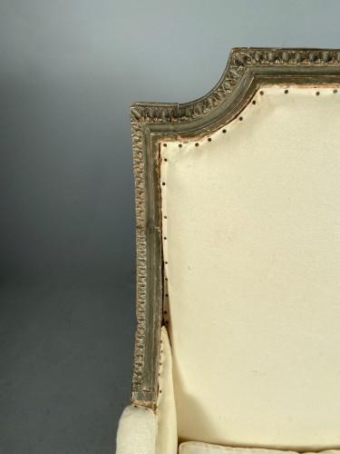 Large Bergère armchair stamped J.B BOULARD, Paris  louis XVI circa 1780 - Louis XVI