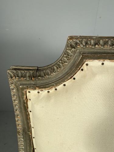 Louis XVI - Large Bergère armchair stamped J.B BOULARD, Paris  louis XVI circa 1780
