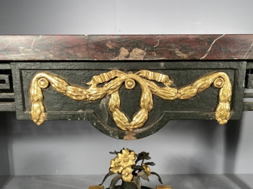 Wrought iron middle table, Provence early 19th century. - Furniture Style Empire