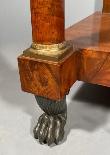 Large console in walnut, empire périod circa1810 - Furniture Style Empire