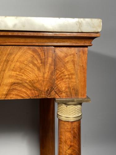 Furniture  - Large console in walnut, empire périod circa1810