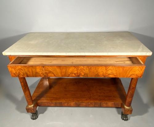 Large console in walnut, empire périod circa1810 -