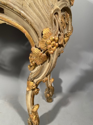 Console table in gilded wood, Provence Louis XV circa 1760 -