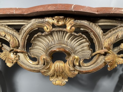 Console table in gilded wood, Provence Louis XV circa 1760 - Louis XV