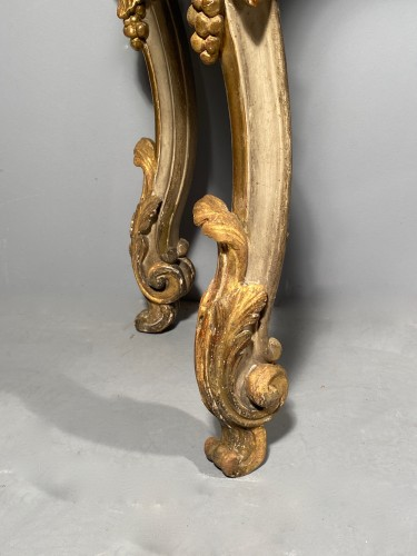 Louis XV - Console table in gilded wood, Provence Louis XV circa 1760