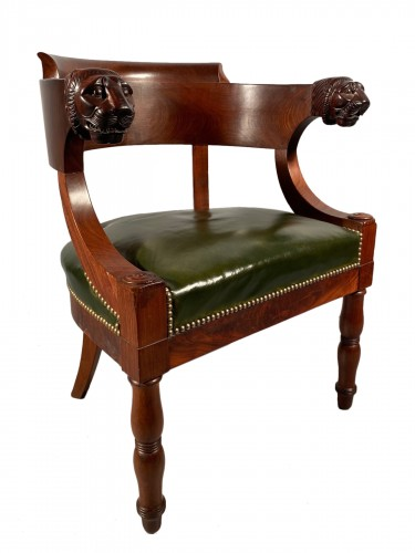 Mahogany office armchair attributed to Jacob, Empire period