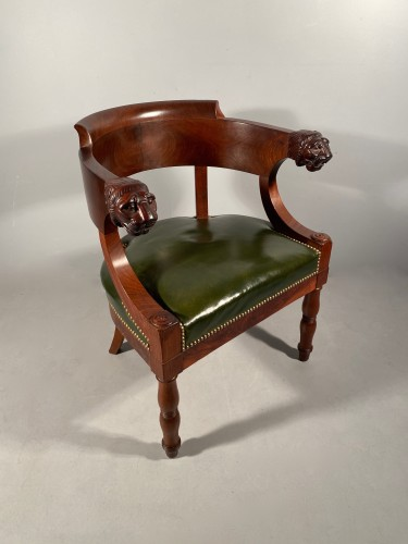 Mahogany office armchair attributed to Jacob, Empire period -
